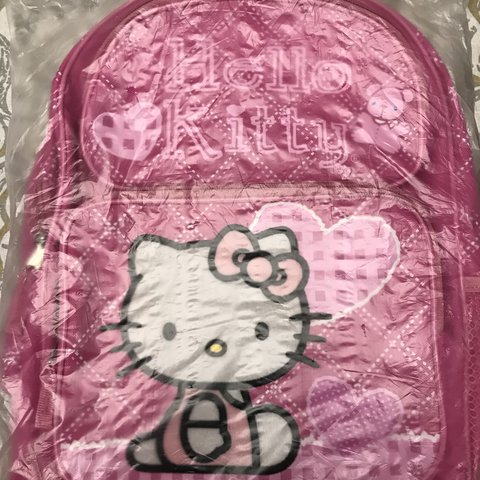 "852834bd73f5 Authentic Sanrio Hello Kitty Backpack!! Super cute Japan 14"" - Depop"