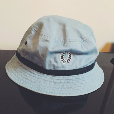 fb36dd5a FredPerry bucket hat pretty rare good condition size small - Depop