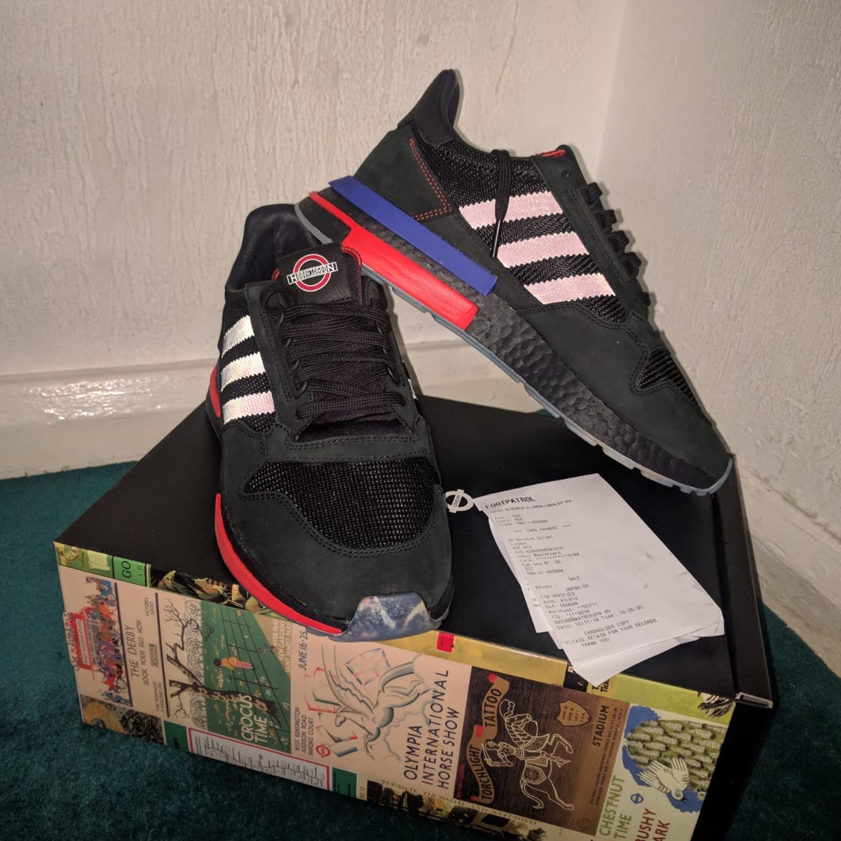best sneakers 467b1 08076 Adidas x TfL ZX 500 RM (size 8, 8.5) (These do not... - Depop