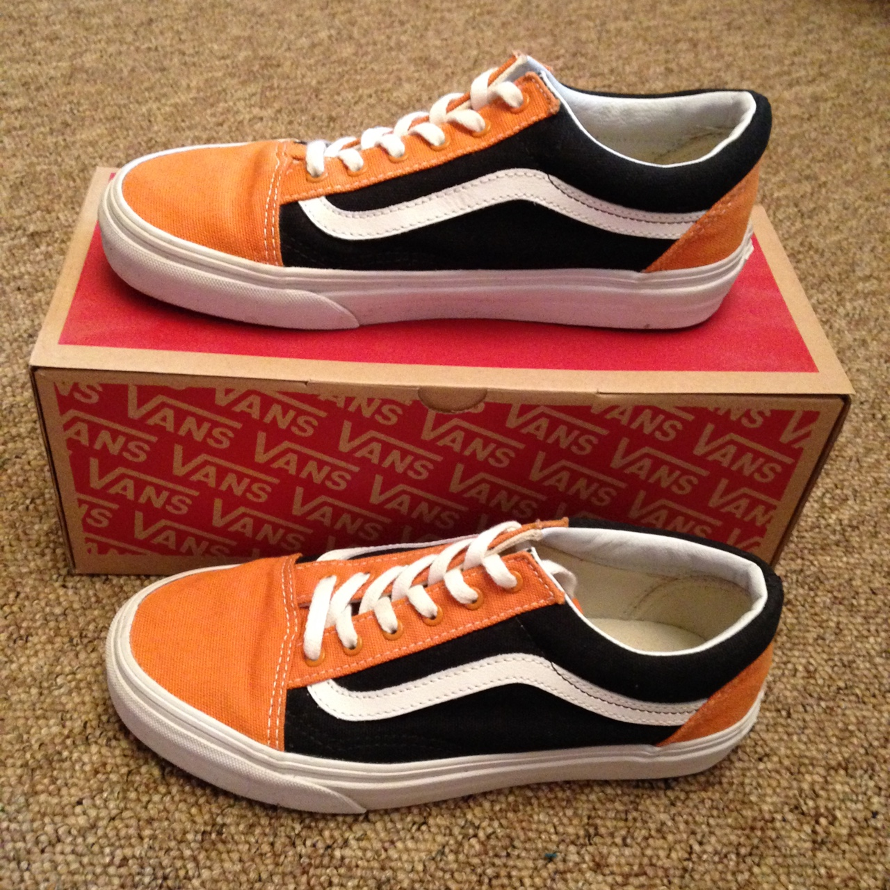 authentic old skool golden coast vans with original Depop