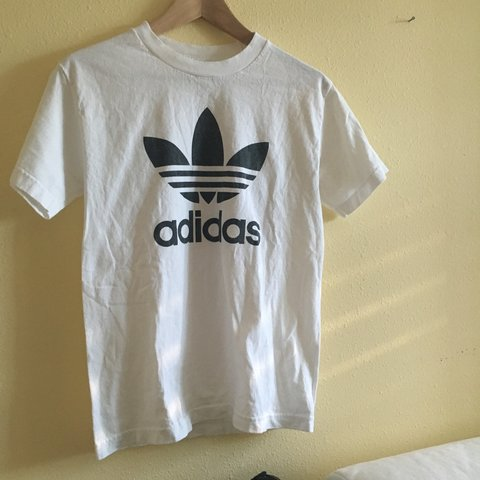 b64f5fed @rylie. 3 years ago. San Jose, CA, USA. awesome white vintage adidas  originals tee . this tshirt ...