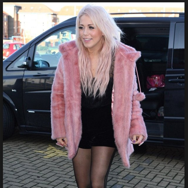 Topshop pink fur coat for sale. Only worn a handful of times, in ...