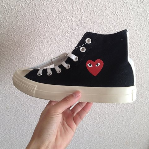 9dc569fd505f Comme des Garcons converse in brand new condition only tried - Depop