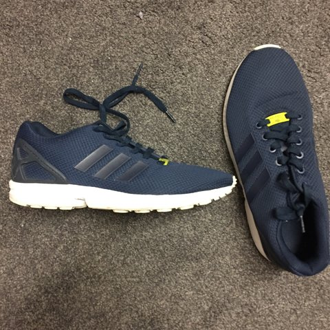 dafdd3652202e Adidas ZX flux Navy shoes size 10. Open to offers and trades - Depop
