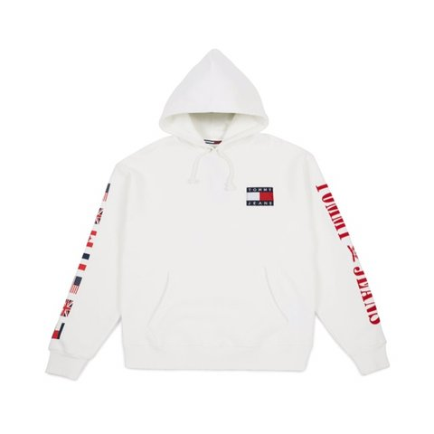 568a9a82a  rupadelic. in 14 hours. United Kingdom. Tommy Hilfiger® 90s Capsule Flag  Hoodie White Unisex Size  XXS ...