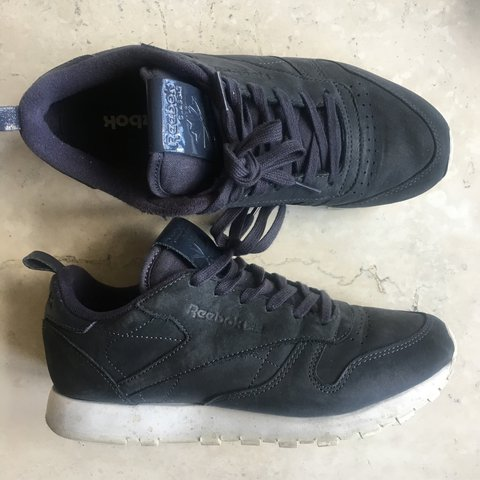 d5c945664a650 reserved   REEBOK CLASSIC IN LEAD - selling these navy   v - Depop