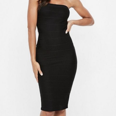 b73a0d1261c Black bandage bodycon midi dress from Missguided. Size 8