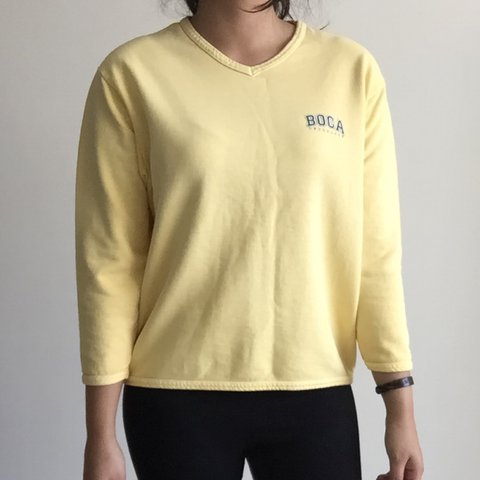 Authentic Vintage BOCA Athletics Yellow Sweater | Made in Canada ...