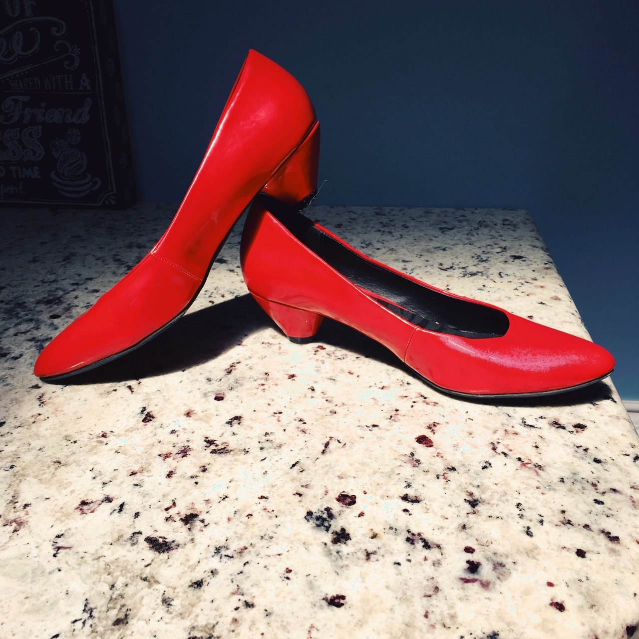 6be541bddd68 FREE SHIPPING Patent red kitten heels! Faux leather. Cherry - Depop