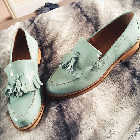 010e09c8029 Gorgeous mint green size 6 loafers from Office. Supreme worn - Depop