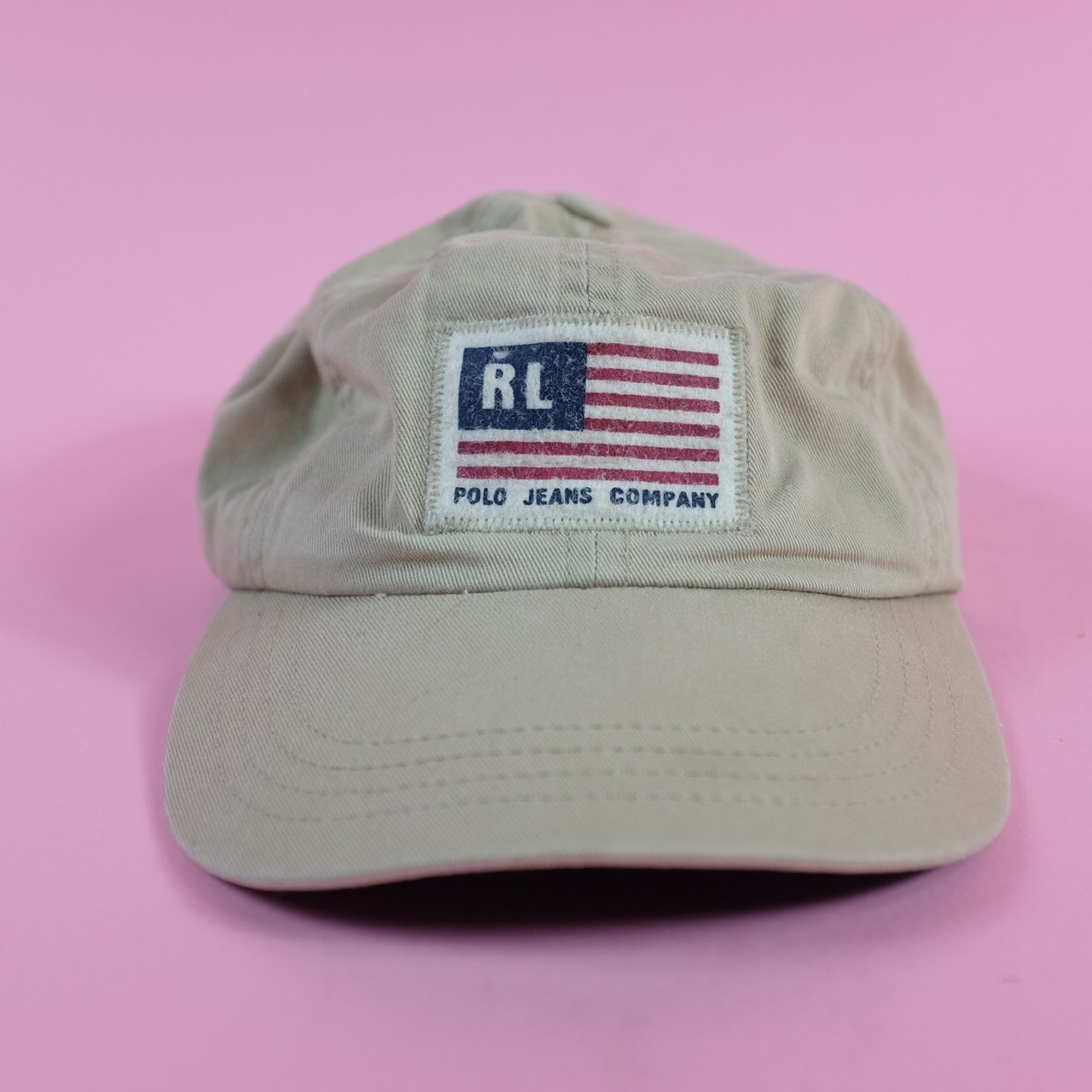 9b11619b5eb 🇺🇸Vintage POLO RALPH LAUREN dad hat leather strap back RL - Depop
