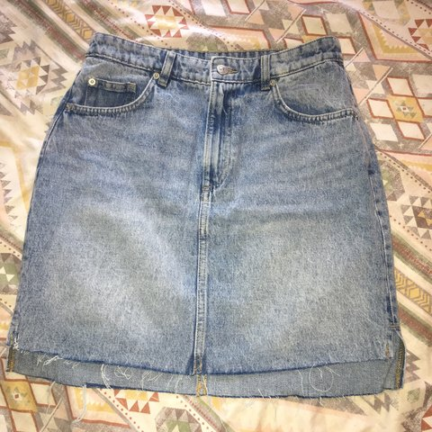 2ee4a92aae @jadeelizabethmurray. last month. Stockton-on-Tees, United Kingdom. Blue denim  skirt size 10