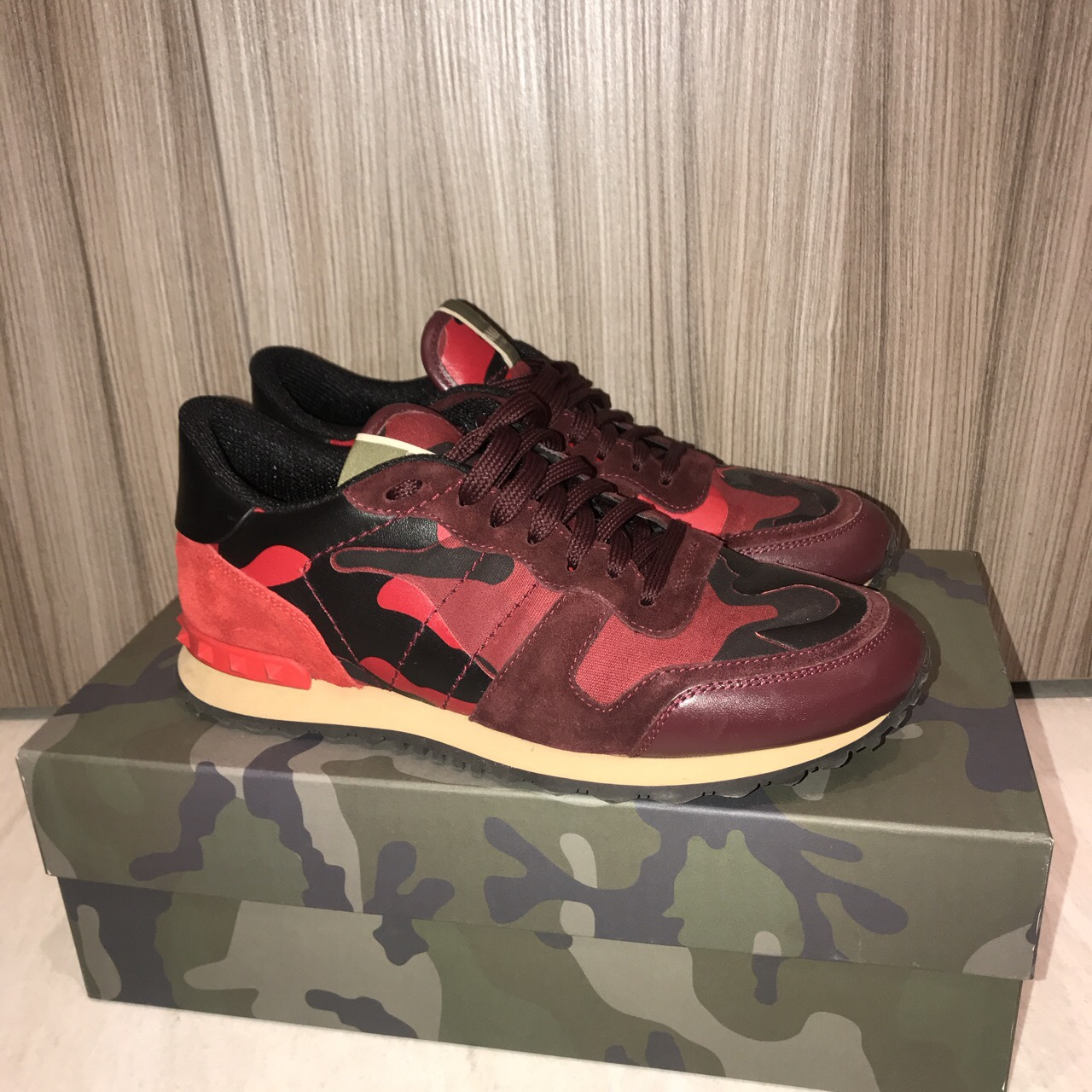 Red Valentino rock runners, worn a few