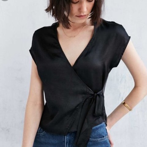 8653c8872b555 Silence   noise urban outfitters wrap top tie top surplice v - Depop