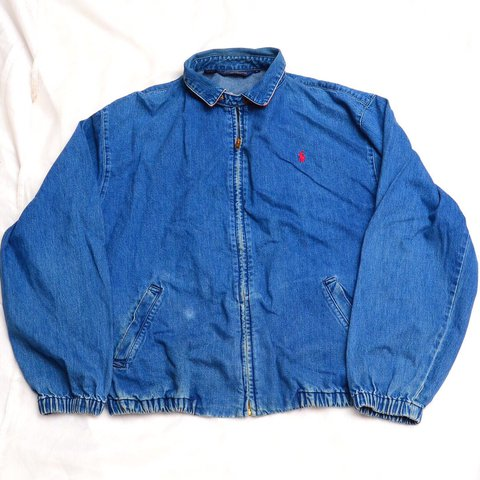 3efbbad0e7 Vintage polo Ralph Lauren denim jacket. This is marked a Has - Depop