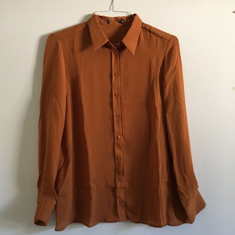 8841e21293086c @mayrizzle. last year. Los Angeles, United States. originally from forever  21 burnt orange button up long sleeve top ...