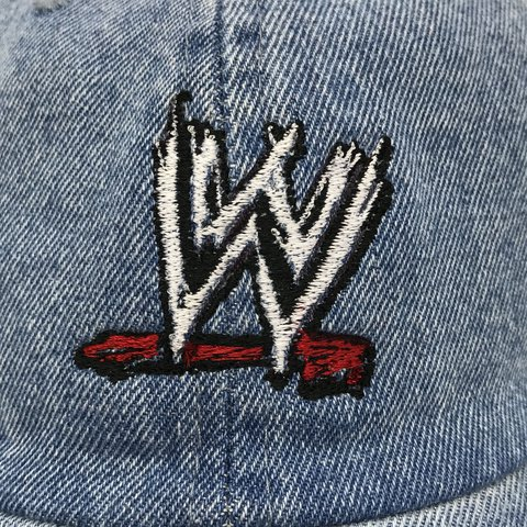 WWE in Denim Embroidered Dad Hat Brand New • DM for more - Depop 62d8a8f70455