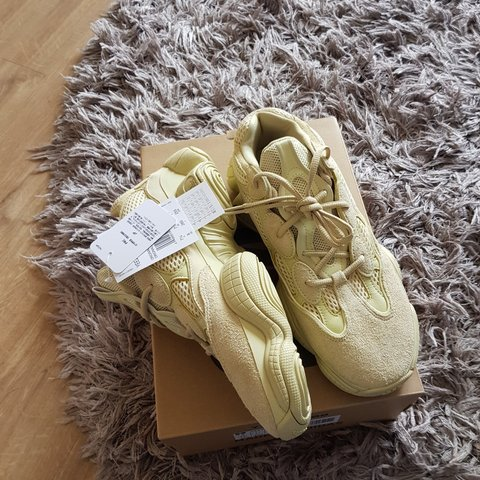92fb9d85d Yeezy 500 desert rat in the supermoon yellow online from SNS - Depop