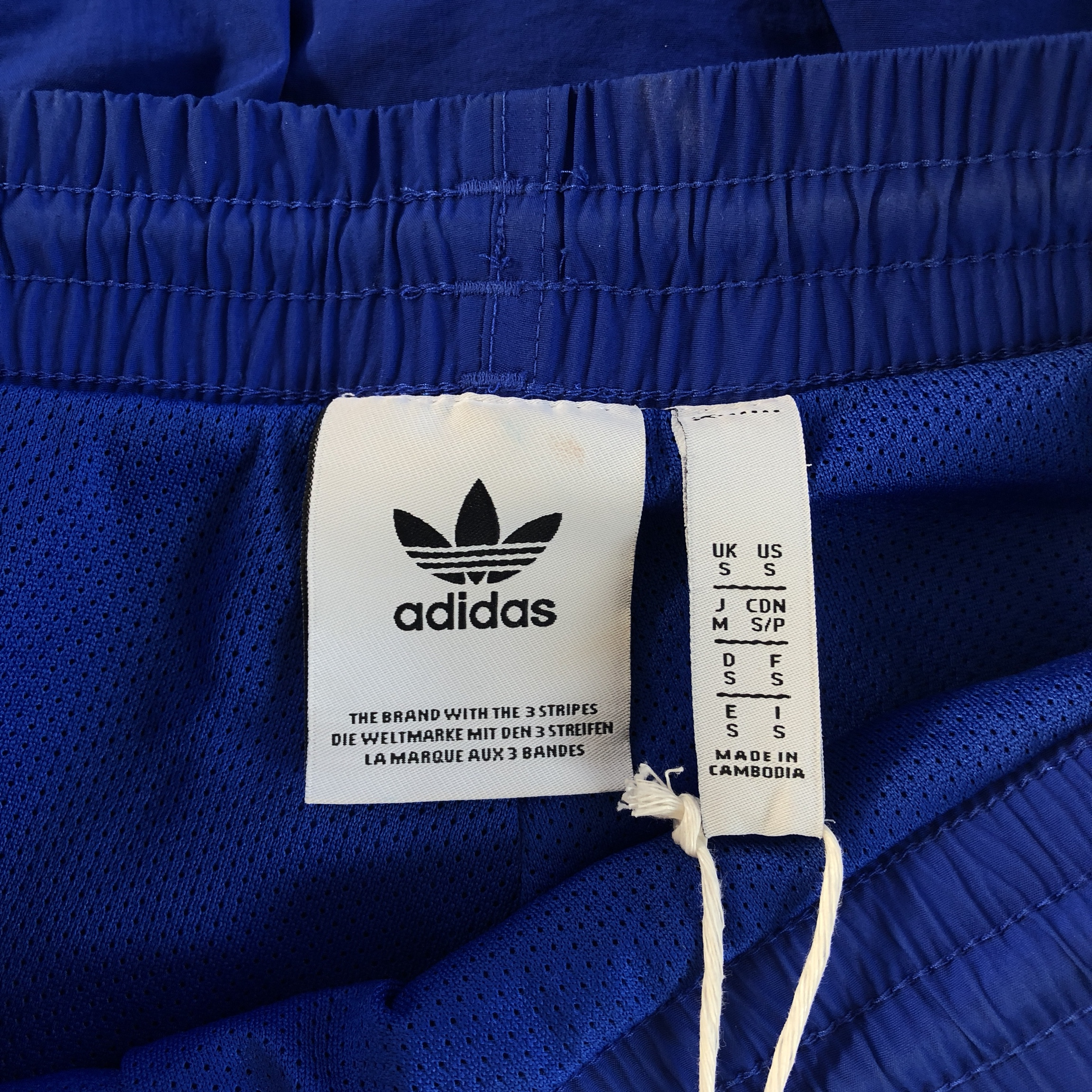 Adidas TNT Tape Wind Track Pants in Bold Blue Size: Depop