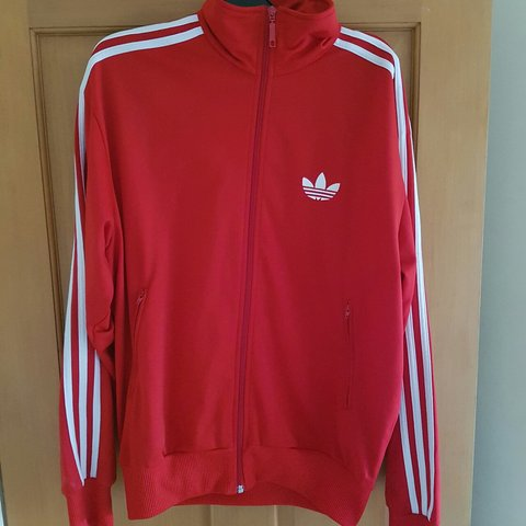 37d065e44214 Men s Adidas Red Long Sleeve Tracksuit Jacket. Size Medium. - Depop