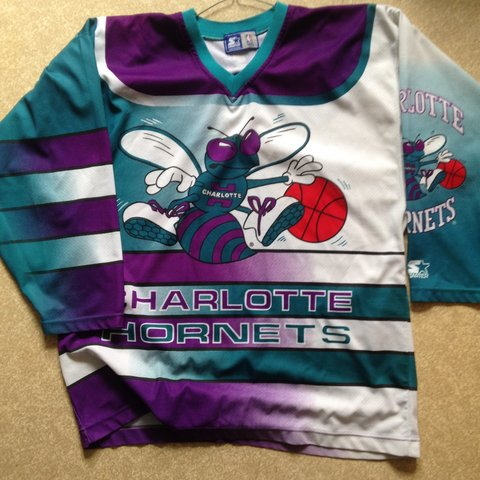 Vintage Nba Hornets Hockey Jersey. Hasn t any size tag in I - Depop 5aab2d4dc