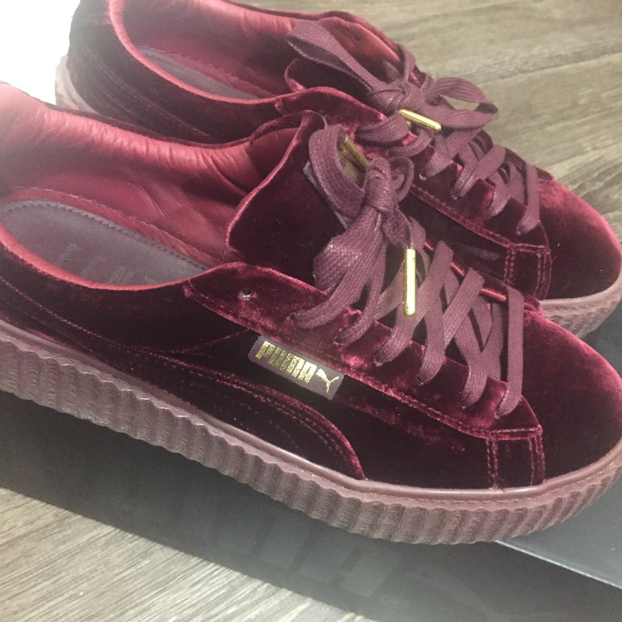 FENTY X PUMA by Rihanna Creeper in Red Velvet. Worn only in - Depop 6178e6aeb