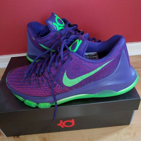 6e28a93719b Nike KD8 basketball shoes harsh 9 10 condition. Selling as - Depop
