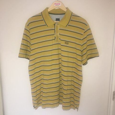 c609259f @freshvintagegb. last year. Glossop, United Kingdom. SALE !! From 35!! Hugo  boss polo shirt in a deep mustard ...