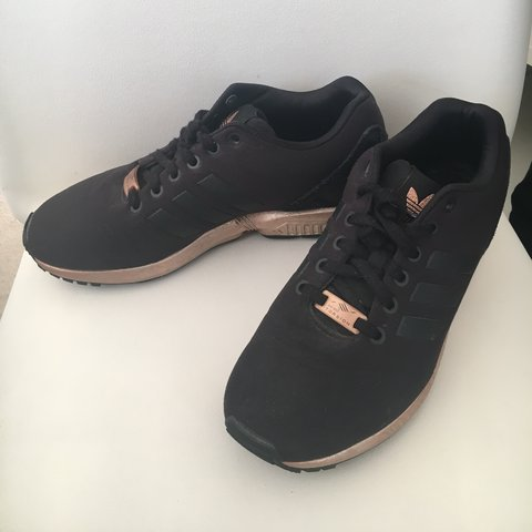 ccffed430 Adidas ZX Flux in black and rose gold. Rare. Well kept