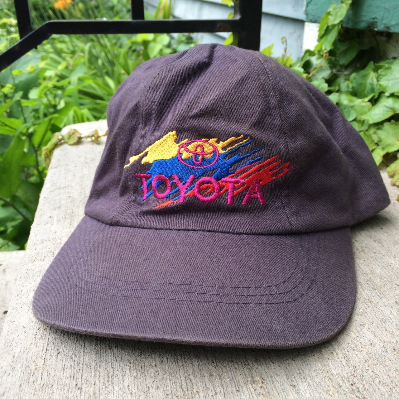 fb9c69e102c Toyota embroidered scrounged cap!  toyota  hat  caps - Depop