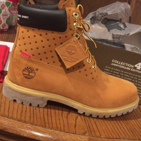 8618c9814f7d Wanna trade my brand new Supreme X CDG X Timberland 's. Will - Depop