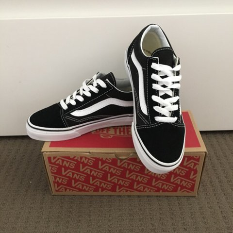 150939a369 Old Skool Vans (kids size) but will fit ladies size 3 US