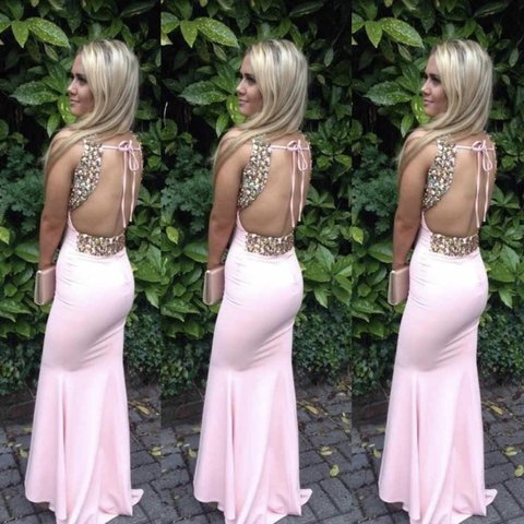 4a298a0e7ae Selling my beautiful Lucy s boutique baby pink diamanté prom - Depop