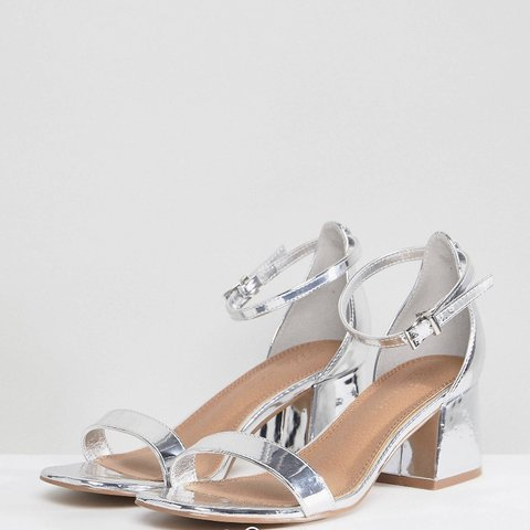 d3b1ebf571 @josiexmas. 20 days ago. Lee-On-The-Solent, United Kingdom. ASOS wide fit silver  block heeled sandals, size 5. Worn once ...