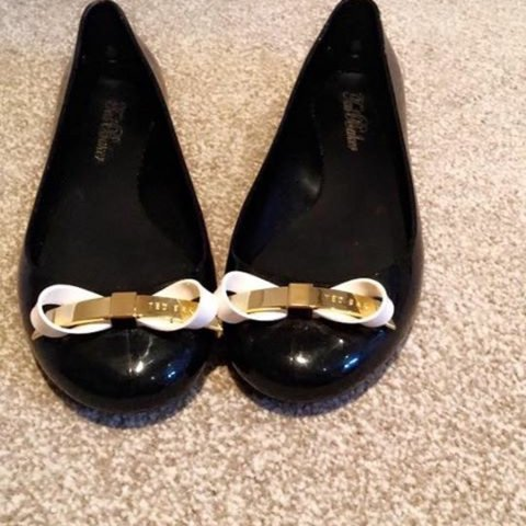 d832ac3e95cf Ted Baker black shoes size 5. Good condition have only been - Depop