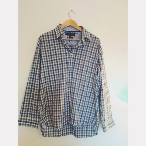 bbae2372b @wrsvintage. 3 years ago. Bristol, City of Bristol, UK. Tommy Hilfiger  Men's Check Shirt • UK Large ...