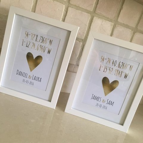 perfect little wedding gifts personalised coordinates a4 depop