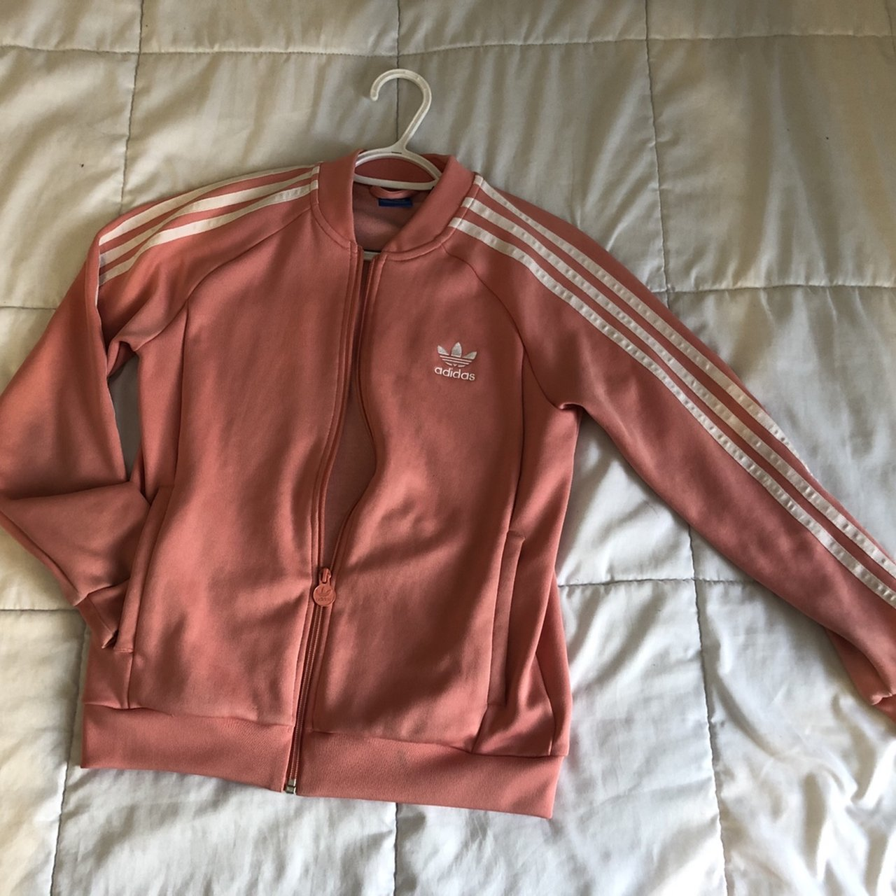 c811ed43d33a Light pink adidas track jacket with inside pockets