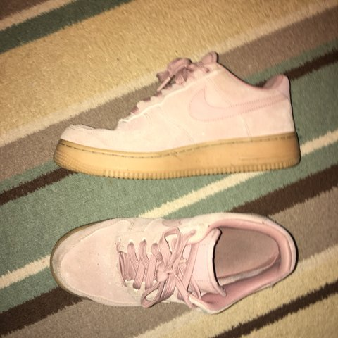 Nike air Force 1 af1 pink suede gum sole. 8 10 condition fit - Depop be083281c