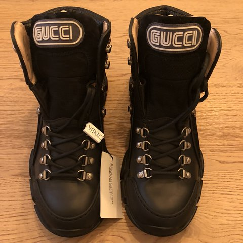 047ee4e2ab4bc Gucci Flashtrek high-top sneaker In black color - very rare - Depop