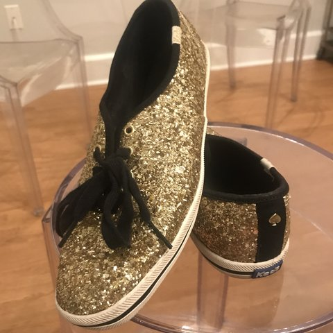 5c843df2c Kate spade for keds gold glitter sneakers Flats 8.5 9. worn - Depop