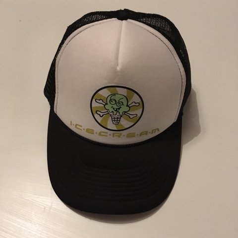 7275a66656dcb ICE CREAM GLOW IN THE DARK TRUCKER CAP RARE BILLIONAIRE BOYS - Depop