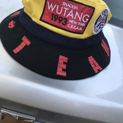 6a12b17f0a3 ... shop wutang bucket hat dream fit dope insignia around the a depop c4c72  3708d