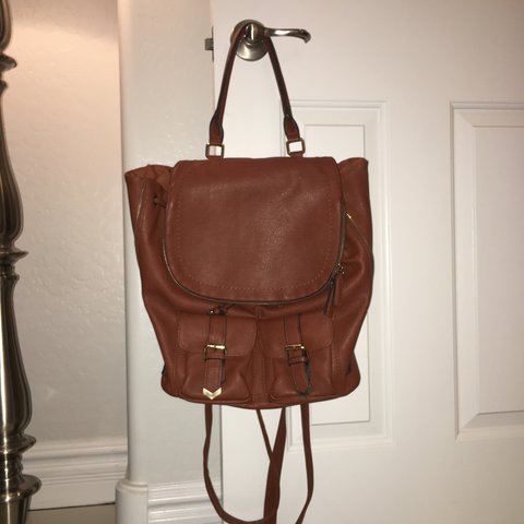 e71ca23f4a8 Aldo Brown Leather Backpack Carrier - USED but in GOOD There - Depop