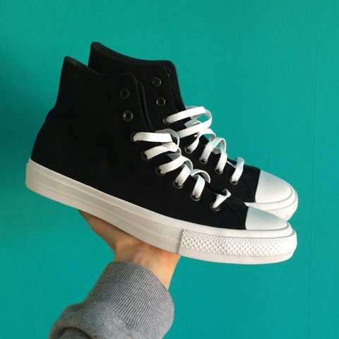 2b0865e3300be1 Converse Chuck Taylor II All Star hi tops in black and From - Depop