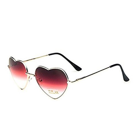 5dbb16a5920 Red Ombré Metal Framed Love Heart Sunglasses ❣ Any please - Depop