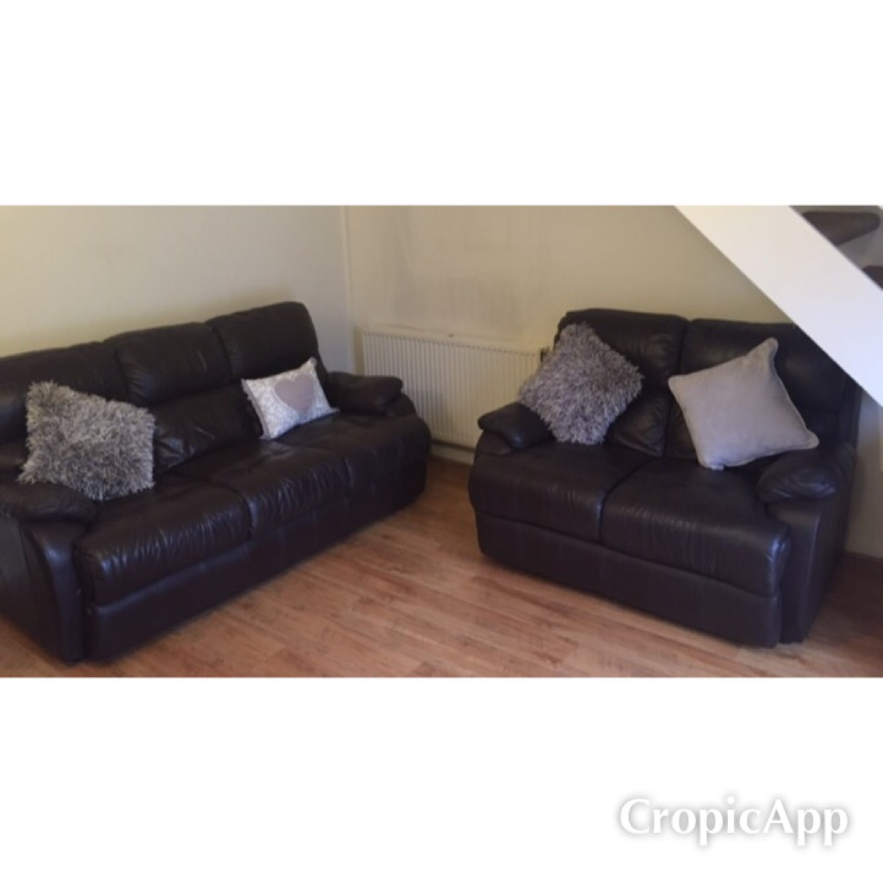 Fantastic 3Seater And 2Seater Chocolate Brown Leather Sofas Depop Pdpeps Interior Chair Design Pdpepsorg