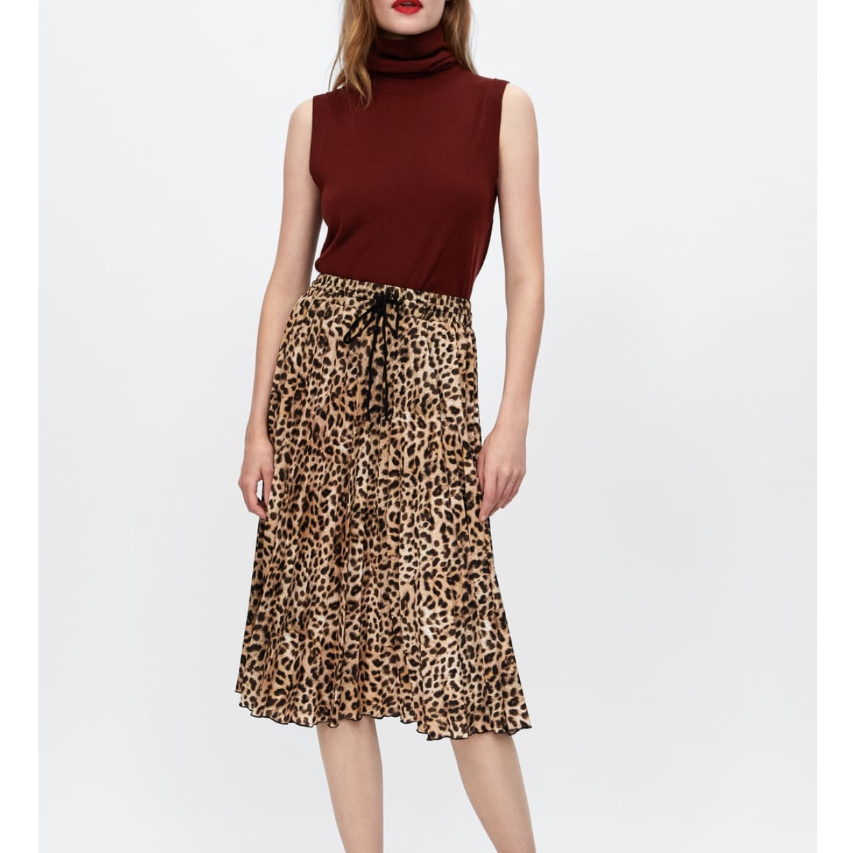 many choices of newest style of new authentic Zara animal print skirt Brand new Size M Sold... - Depop