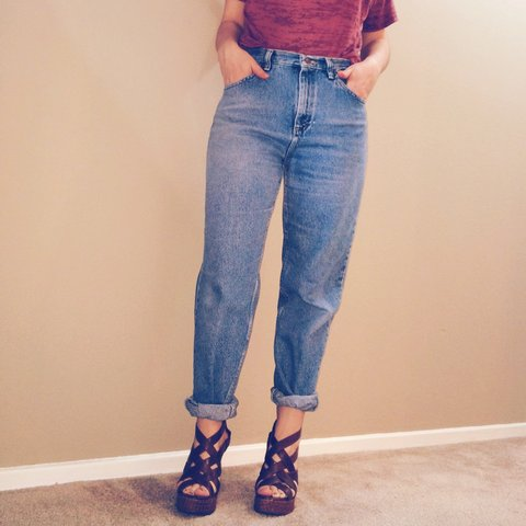 81130d50a2 @addicted2thrift. 3 years ago. Los Angeles, CA, USA. Unique 80s/90s high  waisted jeans ...