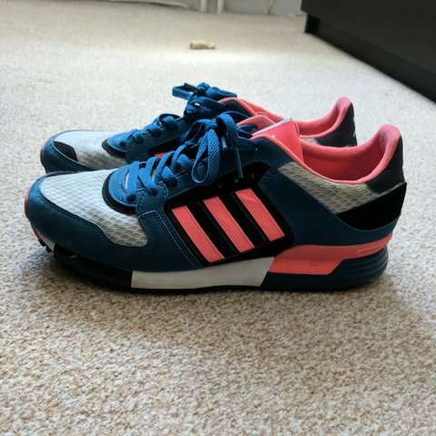 los angeles 8f716 579af ... clearance adidas zx 630 red zest uk size 10 mens in blue pink and depop  ad6be